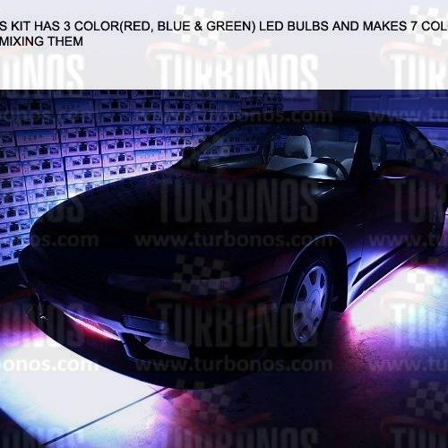 کیت حرفه ای نورپردازی زیر خودرو ریموت دار